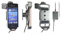 Support voiture  Brodit Sony Ericsson Xperia Ray  installation fixe - Avec rotule, connectique Molex. Chargeur 2A. Réf 513293