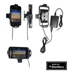 Support voiture  Brodit BlackBerry Curve 9380  installation fixe - Avec rotule, connectique Molex. Chargeur 2A. Réf 513295