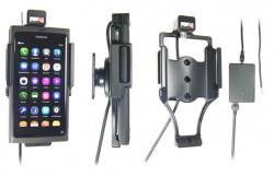 Support voiture  Brodit Nokia Lumia 800  installation fixe - Avec rotule, connectique Molex. Chargeur 2A. SEULEMENT pour une utilisation avec appareil avec la boîte d'origine Nokia. Réf 513297