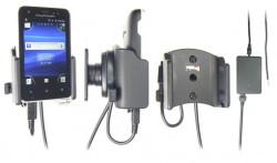 Support voiture  Brodit Sony Ericsson Xperia Active  installation fixe - Avec rotule, connectique Molex. Chargeur 2A. Réf 513298