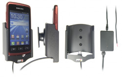 Support voiture  Brodit Samsung Galaxy Xcover GT-S5690  installation fixe - Avec rotule, connectique Molex. Chargeur 2A. Réf 513322