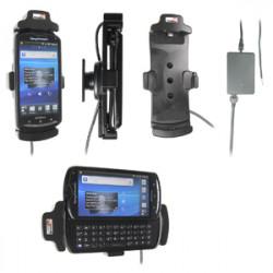 Support voiture  Brodit Sony Ericsson Xperia Pro  installation fixe - Avec rotule, connectique Molex. Chargeur 2A. Réf 513323