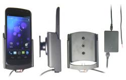 Support voiture  Brodit Samsung Galaxy Nexus GT-I9250  installation fixe - Avec rotule, connectique Molex. Chargeur 2A. Réf 513324