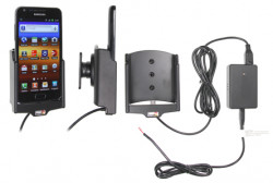 Support voiture  Brodit Samsung Galaxy S II HD LTE  installation fixe - Avec rotule, connectique Molex. Chargeur 2A. Réf 513327