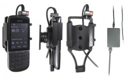 Support voiture  Brodit Nokia Asha 300  installation fixe - Avec rotule, connectique Molex. Chargeur 2A. Réf 513357
