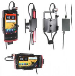 Support voiture  Brodit Nokia 700  installation fixe - Avec rotule, connectique Molex. Chargeur 2A. Réf 513358