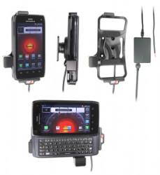 Support voiture  Brodit Motorola Droid 4  installation fixe - Avec rotule, connectique Molex. Chargeur 2A. Réf 513375