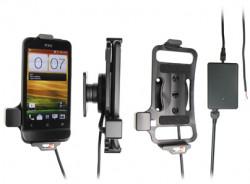 Support voiture  Brodit HTC One V T320e  installation fixe - Avec rotule, connectique Molex. Chargeur 2A. Réf 513396