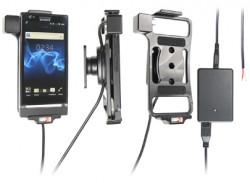 Support voiture  Brodit Sony Xperia P  installation fixe - Avec rotule, connectique Molex. Chargeur 2A. Réf 513406