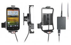 Support voiture  Brodit HTC Desire C  installation fixe - Avec rotule, connectique Molex. Chargeur 2A. Réf 513420