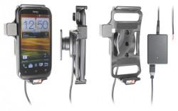 Support voiture  Brodit HTC Desire X  installation fixe - Avec rotule, connectique Molex. Chargeur 2A. Réf 513441