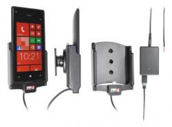 Support voiture  Brodit HTC 8X  installation fixe - Avec rotule, connectique Molex. Chargeur 2A. Réf 513454