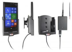 Support voiture  Brodit Nokia Lumia 920  installation fixe - Avec rotule, connectique Molex. Chargeur 2A. Réf 513462