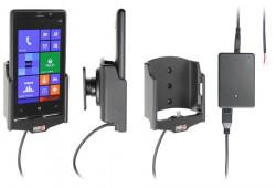 Support voiture  Brodit Nokia Lumia 820  installation fixe - Avec rotule, connectique Molex. Chargeur 2A. Réf 513463