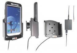 Support voiture  Brodit Samsung Galaxy Note II GT-N7100  installation fixe - Avec rotule, connectique Molex. Chargeur 2A. Pour  étui Otterbox Defender (non livré). Réf 513467