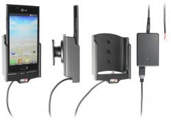 Support voiture  Brodit LG P700  installation fixe - Avec rotule, connectique Molex. Chargeur 2A. Réf 513471
