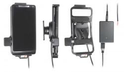Support voiture  Brodit Motorola Droid Razr M  installation fixe - Avec rotule, connectique Molex. Chargeur 2A. Réf 513474