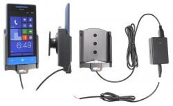Support voiture  Brodit HTC 8S  installation fixe - Avec rotule, connectique Molex. Chargeur 2A. Réf 513478