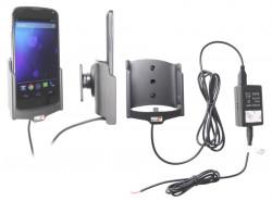 Support voiture  Brodit LG Nexus 4  installation fixe - Avec rotule, connectique Molex. Chargeur 2A. Réf 513482