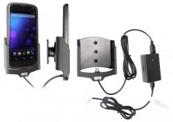 Support voiture  Brodit LG Nexus 4  installation fixe - Avec rotule, connectique Molex. Chargeur 2A. Pour appareil avec bumper d'origine. Réf 513488