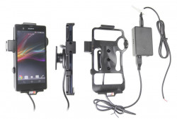 Support voiture  Brodit Sony Xperia Z  installation fixe - Avec rotule, connectique Molex. Chargeur 2A. Réf 513495