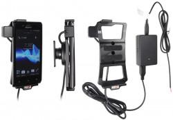 Support voiture  Brodit Sony Xperia J  installation fixe - Avec rotule, connectique Molex. Chargeur 2A. Réf 513506