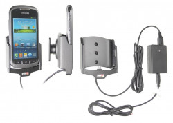 Support voiture  Brodit Samsung Galaxy Xcover 2  installation fixe - Avec rotule, connectique Molex. Chargeur 2A. Réf 513507