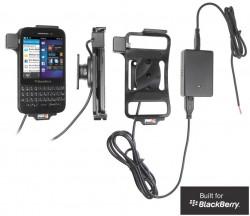 Support voiture  Brodit BlackBerry Q5  installation fixe - Avec rotule, connectique Molex. Chargeur 2A. Réf 513514