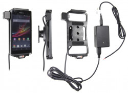 Support voiture  Brodit Sony Xperia SP  installation fixe - Avec rotule, connectique Molex. Chargeur 2A. Réf 513533