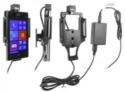 Support voiture  Brodit Nokia Lumia 925  installation fixe - Avec rotule, connectique Molex. Chargeur 2A. Réf 513546