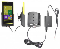 Support voiture  Brodit Nokia Lumia 1020  installation fixe - Avec rotule, connectique Molex. Chargeur 2A. Réf 513550