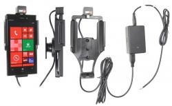 Support voiture  Brodit Nokia Lumia 928  installation fixe - Avec rotule, connectique Molex. Chargeur 2A. Réf 513552