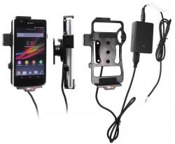 Support voiture  Brodit Sony Xperia ZR  installation fixe - Avec rotule, connectique Molex. Chargeur 2A. Réf 513555