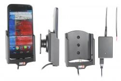 Support voiture  Brodit Motorola Moto X  installation fixe - Avec rotule, connectique Molex. Chargeur 2A. Réf 513557