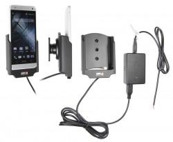 Support voiture  Brodit HTC One mini  installation fixe - Avec rotule, connectique Molex. Chargeur 2A. Réf 513558