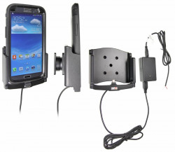 Support voiture  Brodit Samsung Galaxy Mega 6.3  installation fixe - Avec rotule, connectique Molex. Chargeur 2A. Pour  étui Otterbox Defender (non livré). Réf 513572