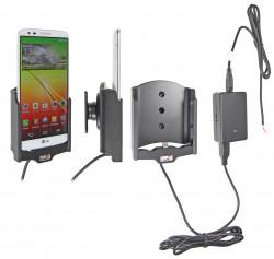 Support voiture  Brodit LG G2  installation fixe - Avec rotule, connectique Molex. Chargeur 2A. Réf 513576