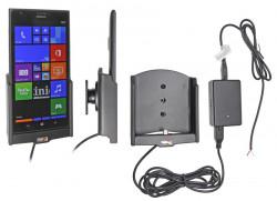 Support voiture  Brodit Nokia Lumia 1520  installation fixe - Avec rotule, connectique Molex. Chargeur 2A. Réf 513589