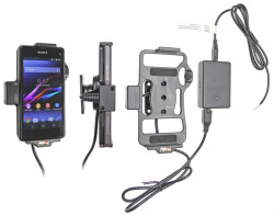 Support voiture  Brodit Sony Xperia Z1 Compact  installation fixe - Avec rotule, connectique Molex. Chargeur 2A. Réf 513597