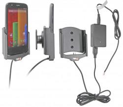 Support voiture  Brodit Motorola Moto G  installation fixe - Avec rotule, connectique Molex. Chargeur 2A. Réf 513599