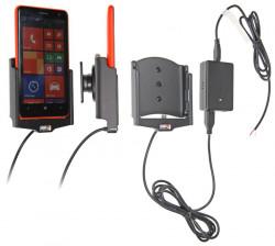 Support voiture  Brodit Nokia Lumia 625  installation fixe - Avec rotule, connectique Molex. Chargeur 2A. Réf 513603