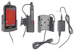 Support voiture  Brodit Toughshield R750  installation fixe - Avec rotule, connectique Molex. Chargeur 2A. Réf 513611