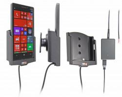 Support voiture  Brodit Nokia Lumia 930  installation fixe - Avec rotule, connectique Molex. Chargeur 2A. Réf 513613