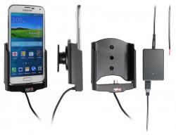 Support voiture  Brodit Samsung Galaxy S5  installation fixe - Avec rotule, connectique Molex. Chargeur 2A. Réf 513623