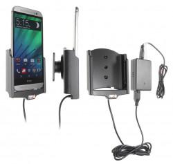 Support voiture  Brodit HTC One (M8)  installation fixe - Avec rotule, connectique Molex. Chargeur 2A. Réf 513624