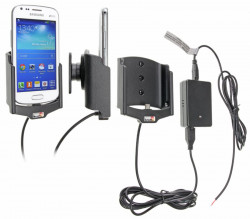 Support voiture  Brodit Samsung Galaxy S Duos 2 S7582  installation fixe - Avec rotule, connectique Molex. Chargeur 2A. Réf 513631