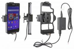 Support voiture  Brodit Sony Xperia Z2  installation fixe - Avec rotule, connectique Molex. Chargeur 2A. Réf 513635