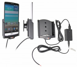 Support voiture  Brodit LG G3  installation fixe - Avec rotule, connectique Molex. Chargeur 2A. Réf 513645