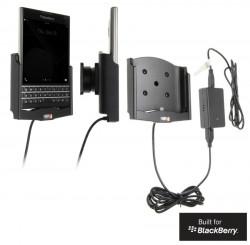 Support voiture  Brodit BlackBerry Passport  installation fixe - Avec rotule, connectique Molex. Chargeur 2A. Réf 513646