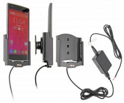 Support voiture  Brodit OnePlus One  installation fixe - Avec rotule, connectique Molex. Chargeur 2A. Réf 513648